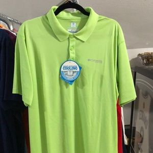 Columbia Short Sleeve PFG Polo With Cooling